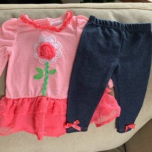 🌻 Flower Outfit size 6-9 months